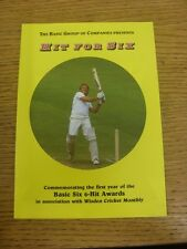 circa 1980's Cricket: Hit For Six, Commemorating The First Year Of The Basic Six