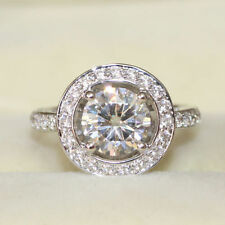 1.86 CT Off White Yellow Round Moissanite Engagement Ring 925 Silver Ring Nr0 9