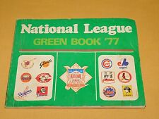 VINTAGE MLB 1977 NATIONAL LEAGUE BASEBALL PLAYER SIGNED GREEN BOOK 12 AUTOGRAPHS
