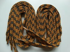 2 Pairs 120cm Brown Olive Chestnut Cotton Flat Hiking Shoe Boot Trainer Laces