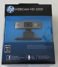 NEW HP HD 2300 Webcam USB Web Widescreen Camera A5F64AA PC Skype Mic Video Chat