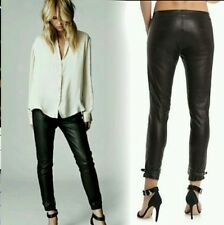 $898 New Elin Kling for Guess by Marciano - Linn black100% Leather Pant size 2