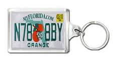 FLORIDA USA LICENSE PLATE KEYRING SOUVENIR LLAVERO