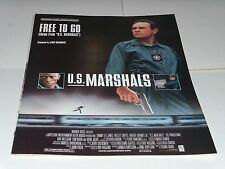 Jerry Goldsmith FREE TO GO sheet music from film U.S. Marshalls 1998 4 pages M-