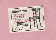 ALSFELD HESSEN, Werbung 1929, Alsfelder Möbel-Fabrik Wiener Stühle Stuhl