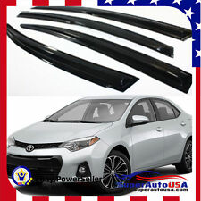 JDM MUGEN 3D STYLE SMOKED WINDOW VISOR VENT SHADE FOR 2014 - 2017 TOYOTA COROLLA