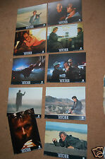 THE HITCHER (1986) - SET OF 10 UNUSED UK ORIGINAL LOBBY CARDS - RUTGER HAUER