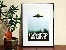 The X-Files - I Want To Believe Movie - A4 Glossy Poster - FREE Shipping