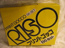 Riso Print Gocco B6 home screen printing machine  kit RARE