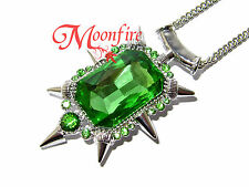 ONCE UPON A TIME ZELENA GREEN CRYSTAL PENDANT NECKLACE WICKED WITCH OF THE WEST