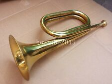 SURPLUS CHINESE ARMY  EMERGENCY HORN MILITARY PLA BRASS BLOWING BUGLE