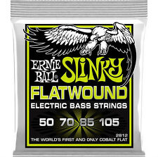 Ernie Ball 2812 Cobalt Flatwound Regular Slinky 4 - String bass strings 50 - 105
