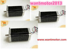 US Free Ship 3PCS Nema23 Stepper Motor Dual Shaft 425oz-in 3A 115mm 1.8° Wantai