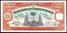 British West Africa. 20 Shillings, AE9 821924, 28-1-1949, Very Fine.