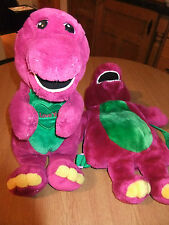 Barney soft toy and Barney back pack
