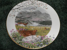 ROYAL WORCESTER CABINET PLATE 'SEPTEMBER ON THE MOORS' - LTD EDITION