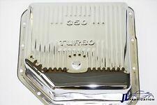 Chrome Chevy TH350 Deep Transmission Pan Extra Capacity  Turbo SBC BBC