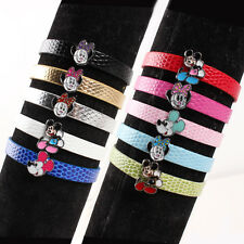 10X Mickey Mouse leather Bracelet Girl Kid Birthday Party Bag Favor Gift