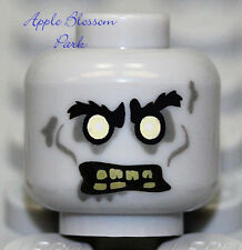 NEW Lego Gray ZOMBIE MINIFIG HEAD Halloween Monster Fighter Chef/Driver Demon