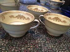 Noritake occupied japan gold and yellow coffee cups