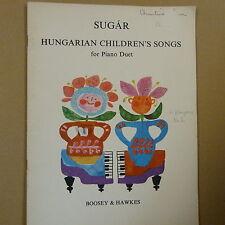 Piano Duet azúcar húngaro de canciones infantiles para piano debido