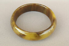 Vintage Art Deco Egg Yolk Amber Marble Bakelite Bangle Bracelet
