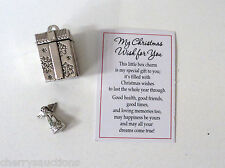 d MY CHRISTMAS WISH FOR YOU Prayer Box Charm present angel health friend ganz