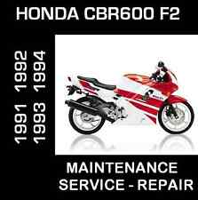 Honda CBR600 F2 CBR 600 F Service Repair Maintenance Manual 1991 1992 1993 1994