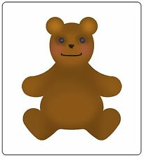 Sizzix Bigz Teddy Bear #4 die #659552 Retail $19.99 Cuts Fabric! SO SWEET!!