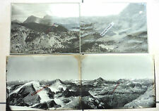 4 PHOTOS 1900 CHAINE DES ALPES MONTAGNE BELLDONNE GRANDES ROUSSES CO14