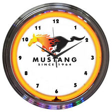Ford Mustang Since 1964 Neon Clock - Boss 302 - GT - Factory Direct