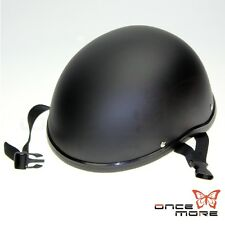 Matte Black Open Face Classic German Style Motorcycle Scooter Cruiser Helmet Hot
