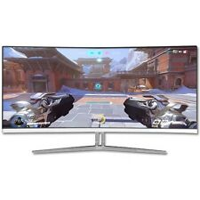 "M340CLZ 34"" WQHD 3440x1440 100HZ AMD FREE Sync Gaming Curved Monitor"