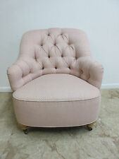 Ethan Allen Chesterfield Style Fireside Lounge Club Living Room Chair A