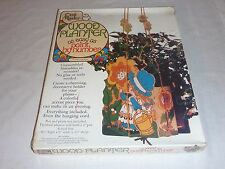 VIntage 70's Craft Master Wood paint By Number hanging Planter Kit Garden Girl