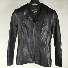 Rickie Freeman for Teri Jon Suits Leather Jacket Black  Womens Size 8