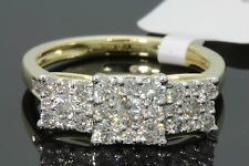 10K YELLOW GOLD 1.10 CT WOMEN REAL DIAMOND ENGAGEMENT RING WEDDING RING BRIDAL