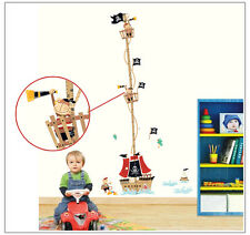 Pirate Ship Height Chart Wall Stickers Pirate Wall Decals Boys Bedroom Nursery