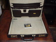 Airways Brown Briefcase Laptop Attaché Combo Lock with Instructions
