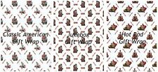 Wholesale Pack 6 Gift Wrap sheets, Birthday, Pin Up, Jukebox, Hot Rod,  Wrapping