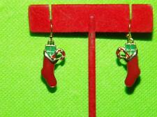 Avon Christmas Holiday Dangle Earrings Christmas Stocking  New Item