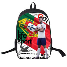 "16"" Cristiano Ronaldo Pattern Backpack for Fans Teenagers Boys Sport School Bags"