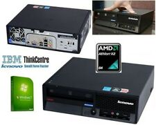 IBM ThinkCentre USFF Windows 7 PC ordenador AMD Athlon X 2 64 3GB 80GB 5