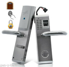 Premium Steel Biometric Fingerprint Door Lock: Access Code, Key, Deadbolt: Right