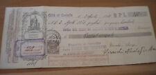1931 bellissima cambiale sovrastampata prezzo ridotto  con bollo 0.20