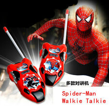 Fun Spider-Man Figures Walkie Talkie Two-Way Radio Phone Kids Boy Girl Xmas Toy