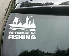 Large Rather Be Fishing Funny Car/Window JDM VW EURO Vinyl Decal Sticker