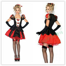 QUEEN OF HEARTS ALICE IN WONDERLAND RED HALLOWEEN OKTOBERFEST FANCY COSTUME
