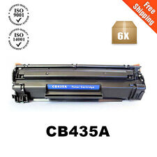 6PK CB435A 35A Black Toner Cartridge For HP Laserjet P1005 P1006 P1003 Printer