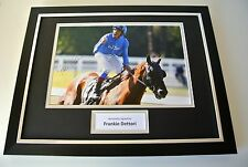 Frankie Dettori SIGNED FRAMED Photo Autograph 16x12 display Horse Racing & COA